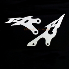 For YAMAHA YZFR1 YZF-R1 2009 2010 2011 2012 2013 2014 Silver Foot Peg Heel Plates Guard Protector Motorcycle Accessories