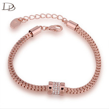 Luxury Bangle 585 Rose Gold Color Women Love Ornament Snake Chain Bracelet Female Decor Male Hand Accessories Jewelry Gift ine3