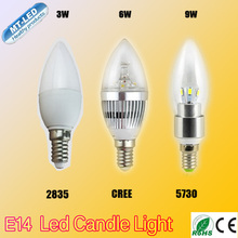 X1pcs Low Price Retail HIGH POWER 3W 6W 9W candle lamp E14 E27 chandelier led light lamp lighting spotlight FREE SHIPPING
