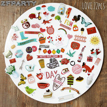 ZFPARTY A Prefect Day Die Cuts Stickers for Scrapbooking Happy Planner/Card Making/Journaling Project 72pcs