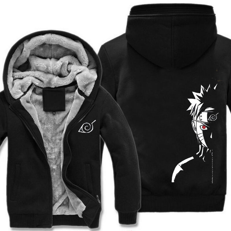 Free Shipping new male fashion hoodies Naruto Shippuden Red Sun Anime striped hoodie
