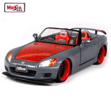 Maisto New 1:24 Honda S2000 Diecast Alloy Model Car Toy Metal Car For Kids Gifts With New In Box Free Shipping(China)