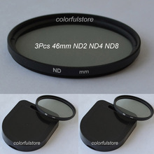 46 46mm 3 x ND Filter Neutral Density Lenses Filters ND2 ND4 ND8 ND 2 4 8 For Canon Nikon Digital SLR Camera Camcorder Cam Lens