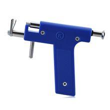 Built-in stainless Steel Designed Mechanically Ear Nose Navel Body Piercing Gun with Studs Tool Kit Sets Avoid Inflammation