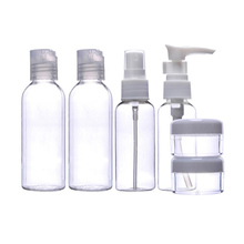 6pcs Makeup Spray Bottle Lotion Case Empty Container Bottles Travel Set Kit New Empty Makeup Jars Transparante Parfum Spray(China)