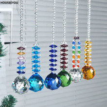 Modern 6 Colors Crystal Glass Drops Hanging Decorations Pendant Ornaments Wedding/Chirstmas Gifts Home Decoration Craft 6PCS/lot