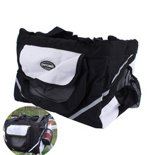 1Pcs Black Bicycle Bike Front Bag Carrier Basket Small Pet Dog Cat Outdoor Travel