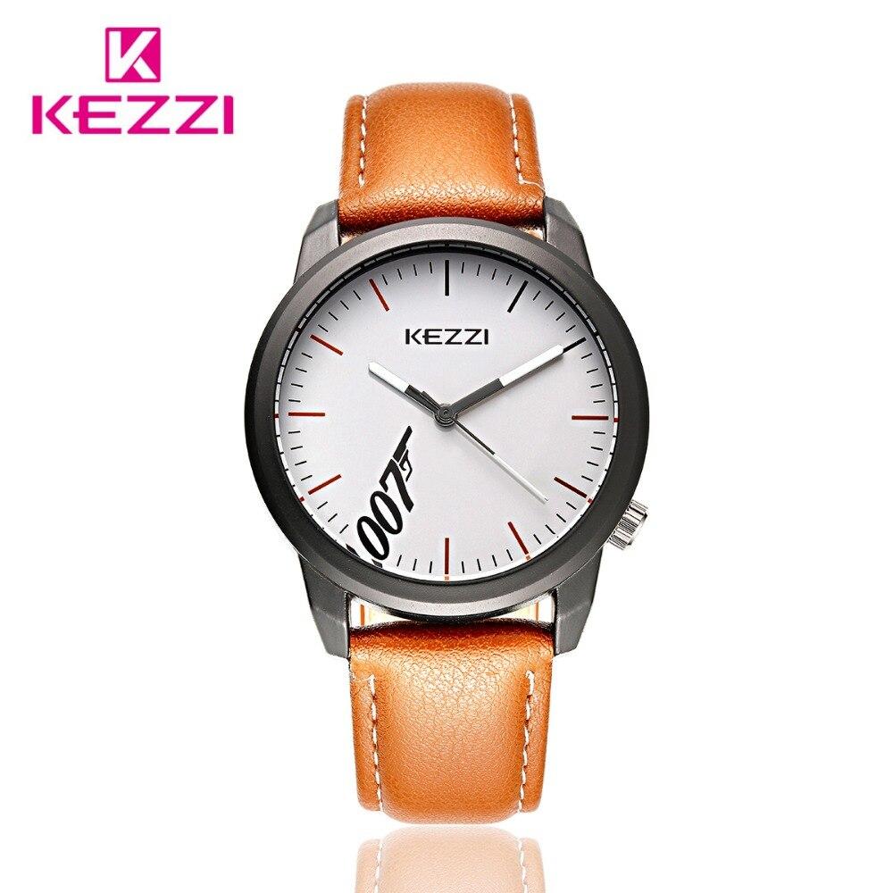 Men Fashion KEZZI Luxury Brand Watches Male Leather Strap Quartz Wristwatches Clocks Male Relogio Masculino K1451<br>