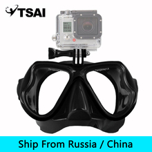 (Ship From Russia / China) Adult Scuba Snorkel Diving Mask Swimming Goggles Underwater Scuba Snorkeling for GoPro Sport Camera(China)