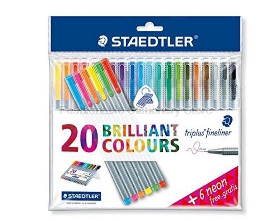 3 Pcs/Lot STAEDTLER 308 Black ink Art Marker Pens Micron Drawing Pen Art Markers Brush Waterproof Manga Anime Comic Pen<br>