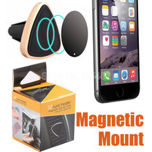 100pcs/lot Car Mount Air Vent Magnetic Universal Car Mount Phone Holder for iPhone 6/6s, One Step Mounting Reinforced Magnet