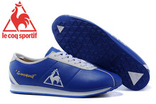 Le Coq Sportif Men's Running Shoes,High Quality Cow Leather Upper Le Coq Sportif Men's Athletic Shoes Sneakers Blue/White 3