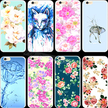 Magic Sunflower Ink Painting Silicon Cell Phone Shell Cover For Apple iPhone 5C iPhone5C Case Cases Charming New Fashion