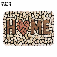 Buy WARM TOUR Home Stone Doormats Funny Indoor Outdoor Front Door Floor Mats Decorative Door Mats Bathroom Livingroom Fabric for $11.73 in AliExpress store