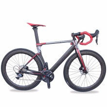 High quality T700 AERO carbon fiber disc brake complete racing road bike(China)