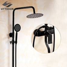 Uythner Wall Mounted Bathroom Shower Faucet with Adjustable Shower Bar Mixer Tap Oil Rubbed Bronze Finish(China)