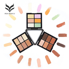 6 Colors Base Primer Professional Makeup All Round Contour Highlighter Flawless Long Lasting Concealer Palette