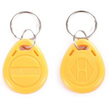 OBO HANDS EM4100 EM4102 125KHz RFID EM-ID Card Tag Token Key Chain Keyfob Read Only Yellow Pack of 100(China)