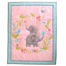 1 Pcs Baby Quilt Cartoon Animal Plant Cotton Baby Quilt Household Bedding Accessories Elephant Butterfly Printing 84*107cm(China)