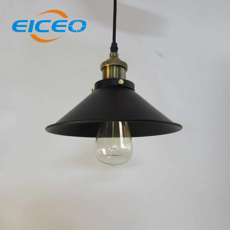 (EICEO)Lampshade Bar/Restaurant Creative industry Retro Elegant Bedroom Study Chandeliers Large Black Umbrella LED Pendant Lamp<br>