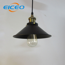 (EICEO)Lampshade Bar/Restaurant Creative industry Retro Elegant Bedroom Study Chandeliers Large Black Umbrella LED Pendant Lamp(China)
