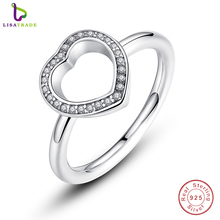 2017 New 925 Sterling Silver Heart Be My Valentine Ring with Clear CZ Original 2016 New Collection Fine Jewelry PA7146(China)
