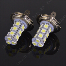 1Pcs New H7 car led light auto led lamp H7 18 SMD 5050 White Fog Tail Signal 18 LED Car Light Lamp Bulb 12V