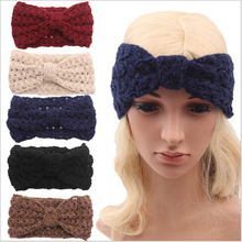 adult winter fleece crochet knit headbands braided headband wool scrunchy elastic headbands head hair band accessories for women