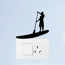 Paddleboard Sports Vinyl Fashion Home Wall Decal Light Switch Sticker 6SS0266