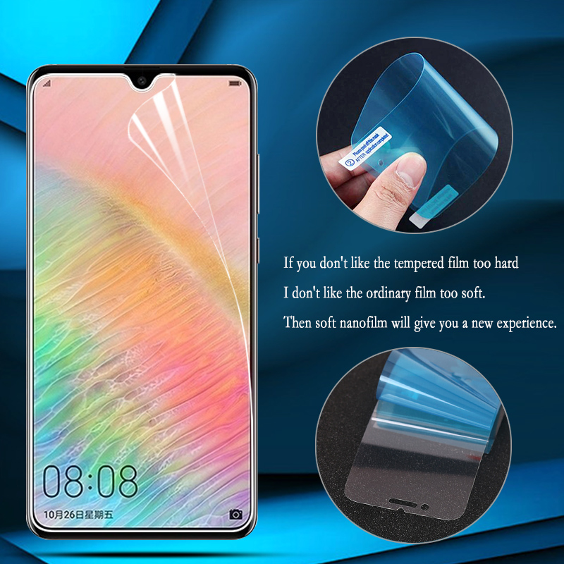 Nano Explosion-proof Protective Film For Huawei Y9 2019 Honor 10 Lite 20S Paly 3 8A 8C Mate 30 X 5i Pro Nova 5T Screen Protector