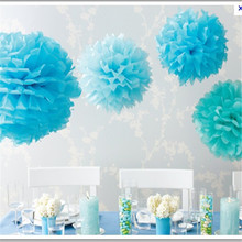 Diameter 20cm 5pcs/lot Paper artificial PomPom Tissue Balls Flower for Home Wedding Party Car Decoration Pompon crafts Supplies(China)