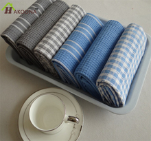 HAKOONA Thick Waffle  Tea Towels Home Cloth Table Napkins Kitchen Cloths 3 Pieces/Bag  3 Colors For Choose