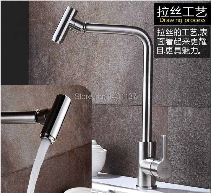 Copper Sink total 304 stainless steel Hot &amp; Cold  kitchen faucet Water Tap torneira bronze cozinha<br><br>Aliexpress