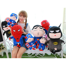 Funny Crayon Shin Chan Cosplay Marv The Avengers Spider-Man Captain America Superman Batman Plush Toy