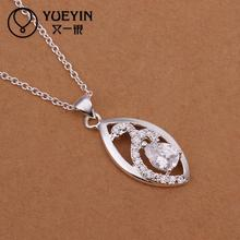 Hot marketing mulheres colar classic Style Silver jewelry chain necklace jewelry festival gift  silver plated necklace