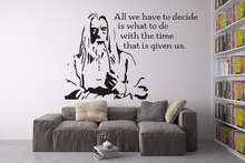 Gandalf Head Serious Pattern Art Wall Decals With QUotes The Hobbit Famous Movies Creative Wall Murals Special Home Decor WM-376(China)