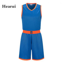 Hearui Custom Blank Basketball Jerseys Sets Professional Training Team Uniforms Sports Clothes Throwback Jerseys Sprots Vest