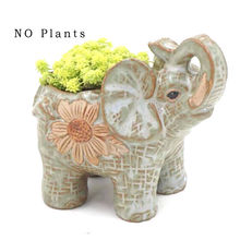 2017 New Green Ceramic pots elephant Cacti Succulent Plant Pot Flower Planter Mini Garden
