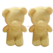 1PCS Mini Cute Bear Boy Silicone Soap Mold Fondant Cake Decorating Tools Cake Chocolate Mold Candle Moulds  4.8*4.8*5.5cm