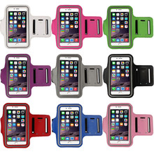 "Universal Sport Running Arm Band Case For iPhone 6 Plus 5.5"" Gym Waterproof Workout Arm PU Phone bag Arm Belt Leather Cover"