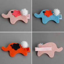 FJ50168 New Korean Cute Baby Girls Hairpins Elephant Stereo Cartoon Animals Hair Clips Hairgrips Children Accessories