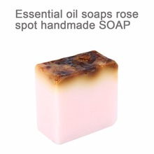 Rose Flowers Essential Oil Charcoal Handmade Soap Skin Whitening Clean Remover Acne Treatment Face Wash Hair Care Bath Skin Care(China)
