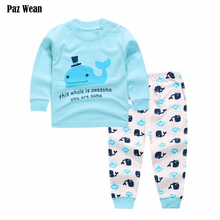 Baby pj sets for baby pjs costume pajamas new born baby pants clothes suit outfit infant toddler boy pjs girl clothing nightgown(China)