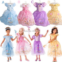 Fashion summer girl dress baby girl Cinderella princess Cosplay Costume, Fancy brand baby costume dress children party dress(China)