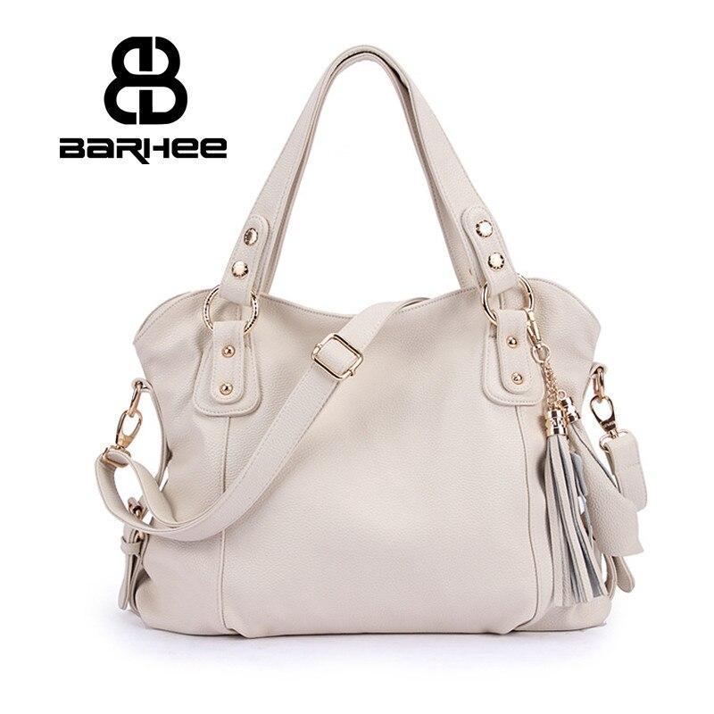 Real Genuine Leather Luxury Women Handbag Ladies Hand Bag  High Quality Design Women Messenger Bag White Hobo Retro Tote Cowhide<br>
