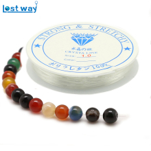 0.7mm 0.8mm 1.0mm 1Roll/lot DIY Jewelry Beaded Elastic Cord DIY Clear Crystal Beading Stretch Line Rope Transparent String Cord