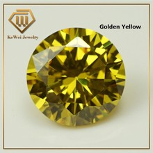 High Quality Biggest Size AAAAA 15mm-20mm Golden Yellow Loose CZ Cubic Zirconia Beads Stone Synthetic Gemstone