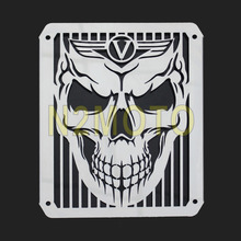 Steel Radiator Grill Skull Cover Guard Protector for Kawasaki VULCAN VN400 VN800 ALL Years Mesh Grille