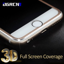 "9H Full Cover Tempered Glass for iPhone 6 7 4.7"" 3D Curved Edge Full Coverage Titanium Protective Film + Cleaning tool"