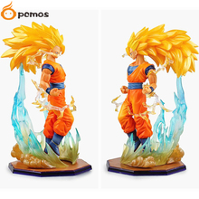 [PCMOS] 2017 New Anime Dragon Ball Z DBZ Super Saiyan 3 Son Gokou 15cm/6'' PVC Figure No Box Free Shipping 5854-L